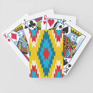 tribal Aztec Yellow Red Blue Bicycle Playing Cards