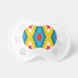 tribal Aztec Yellow Red Blue Pacifier