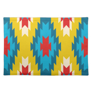 tribal Aztec Yellow Red Blue Placemat