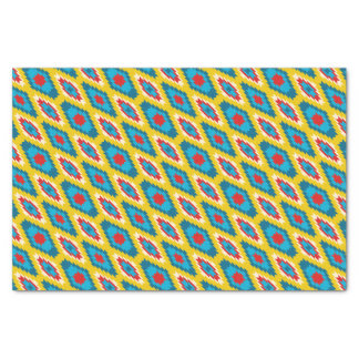 tribal Aztec Yellow Red Blue Tissue Paper