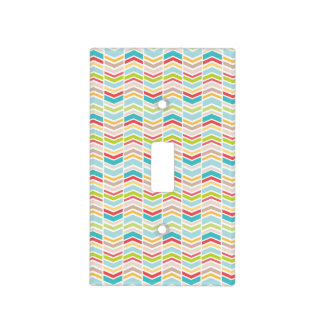 Tribal Baby Nursery Decor, colorful switch cover
