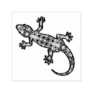 Tribal batik Gecko / Lizard Self-inking Stamp