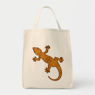 Tribal Batik Gecko - Rust, Amber and Tan Tote Bag