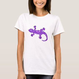 Tribal batik Gecko - violet and amethyst purple T-Shirt