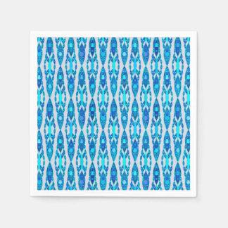 Tribal Batik - Sapphire Blue and Silver Grey Napkin