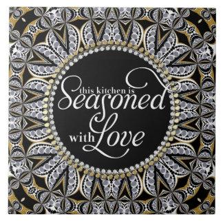 Tribal Batik Season with Love Home Decor Kitchen Tile