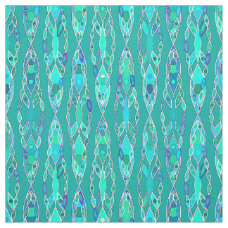 Tribal Batik - Turquoise and Aquamarine Fabric
