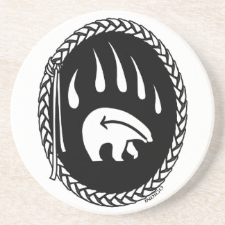 Tribal Bear Art Gifts Native Art Wildlife Coasters