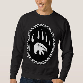 Tribal Bear Art Sweatshirt Native Bear Claw Sweats