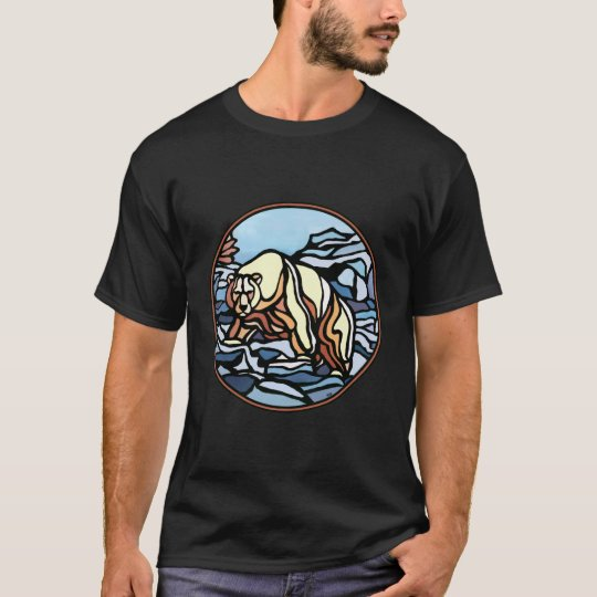 Tribal Bear Art T-shirt Polar Bear Mens Shirt