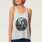 Tribal Bear Art Women's Tank Top Wildlife Shirts