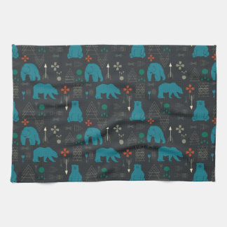 tribal bear kitchen towel
