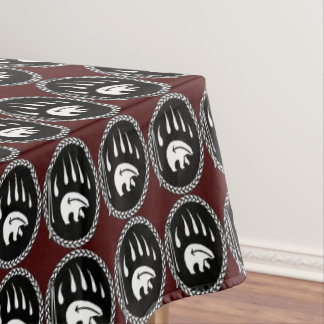 Tribal Bear Tablecloth Bear Claw Art Tablecloth