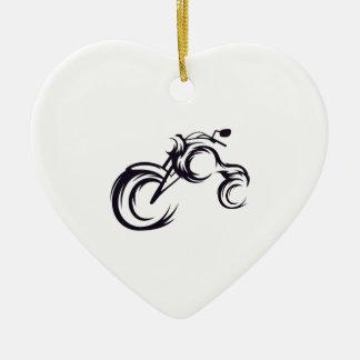 Tribal Bike Ceramic Ornament