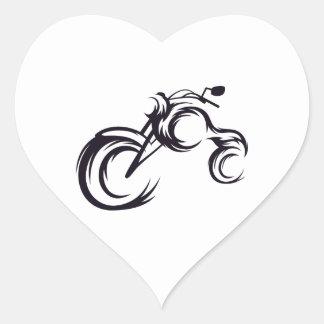 Tribal Bike Heart Sticker