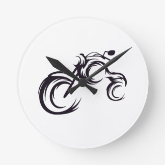 Tribal Bike Round Clock