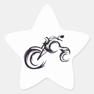 Tribal Bike Star Sticker