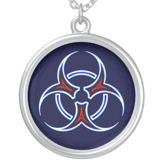Tribal Biohazard Symbol Necklace