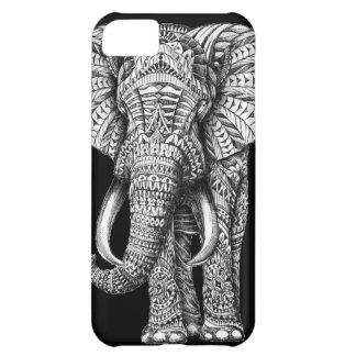 Tribal Black Elephant iPhone 5C Cases