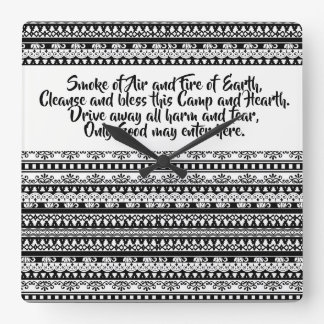Tribal blessings square wall clock