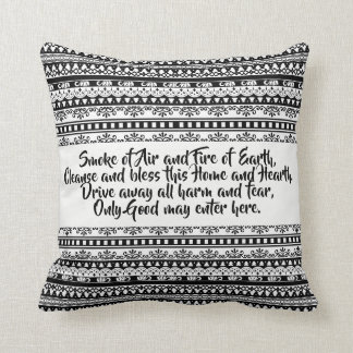 Tribal blessings throw pillow