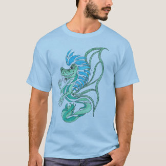Tribal Blue Dragon T-Shirt