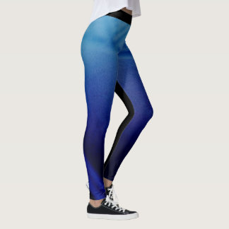 Tribal blue leggings