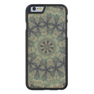 TRIBAL BOHEMIAN KALEIDOSCOPIC GEOMETRIC MANDALA CARVED® MAPLE iPhone 6 CASE