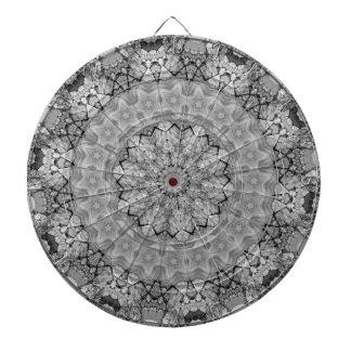 TRIBAL BOHEMIAN KALEIDOSCOPIC GEOMETRIC MANDALA DARTBOARD WITH DARTS