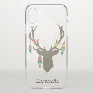 Tribal Boho Deer Head iPhone X Case