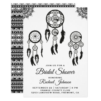 Tribal Boho Dream Catcher Bridal Shower Invitation