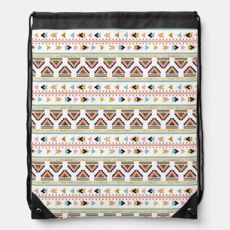 Tribal Boho Pattern Drawstring Bag