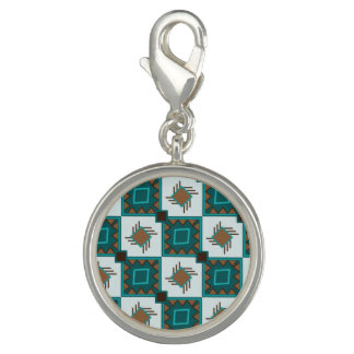 Tribal boho rustic style pattern charm
