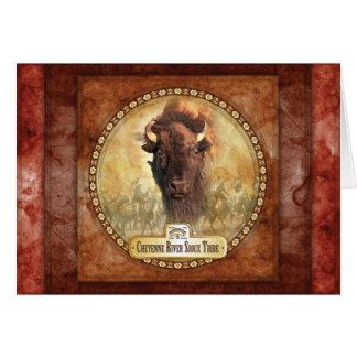 Tribal Buffalo Greeting Card