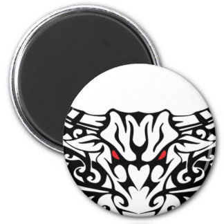 Tribal-Bull 2 Inch Round Magnet