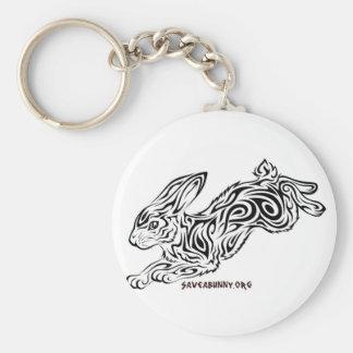 Tribal Bunny Keychain
