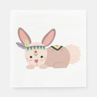 Tribal Bunny Napkin Paper Napkins