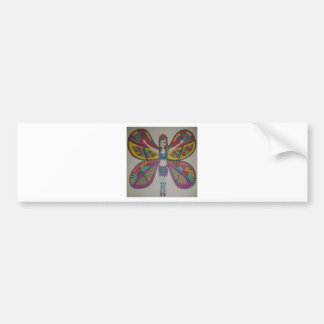 Tribal butterfly Fairy Bumper Sticker