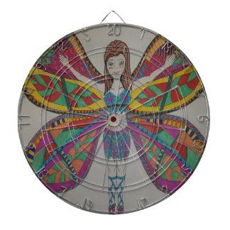 Tribal butterfly Fairy Dartboards