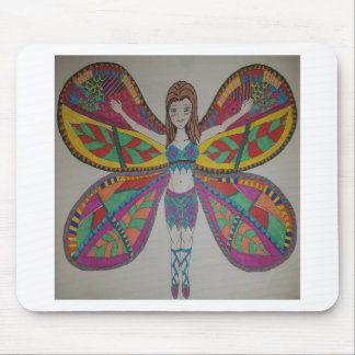 Tribal butterfly Fairy Mouse Pad