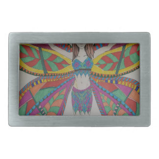 Tribal butterfly Fairy Rectangular Belt Buckles