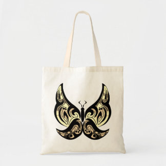 Tribal Butterfly Tote - Sepia