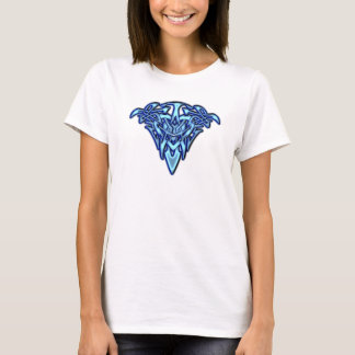 Tribal/Celtic Tattoo-like Glowing Blue Heart T-Shirt