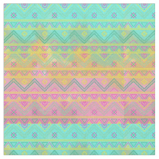 Tribal Chic Geometric Watercolor Fabric