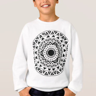 tribal Circle in Black Sweatshirt