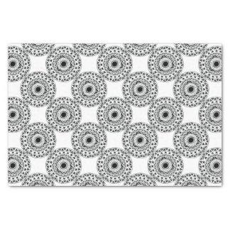 tribal Circle in Black Tissue Paper