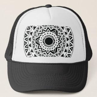 tribal Circle in Black Trucker Hat