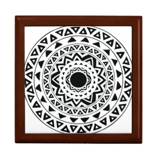 Tribal Circles Mandala in Black and White Gift Box
