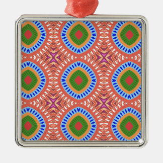 Tribal Circles Metal Ornament