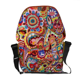 Tribal Colorful Abstract Messenger Bag